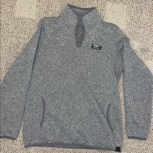 Heather grey LL Bean sweater fleece pullover
